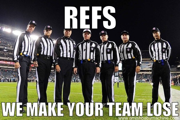 POOR OFFICIATING SPORTS RANKINGS