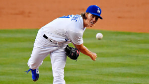 Los Angeles Dodgers starting pitcher Zack Greinke throws to the plate during the second inning of a baseball game against the Texas Rangers, Thursday, June 18, 2015, in Los Angeles. (AP Photo/Mark J. Terrill)