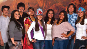 Native college students, courtesy of University of Nevada, Reno and the Intertribal higher education program.